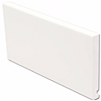 White uPVC Flat Replacement Fascia Board 16mm 5mt